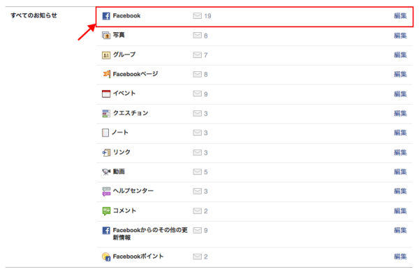 Facebook覚え書き